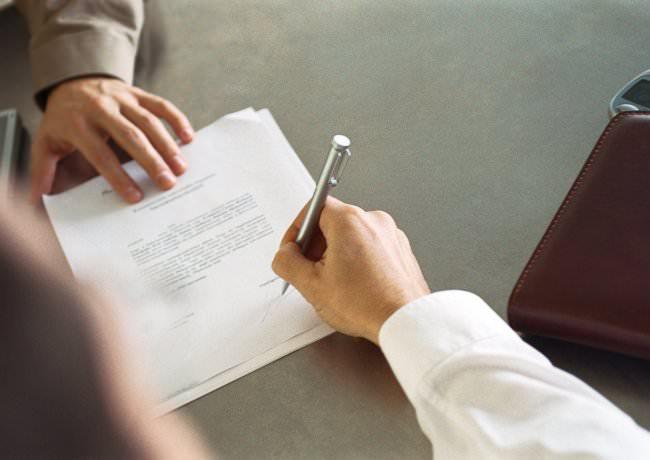 Подписывание соглашения об ответственности