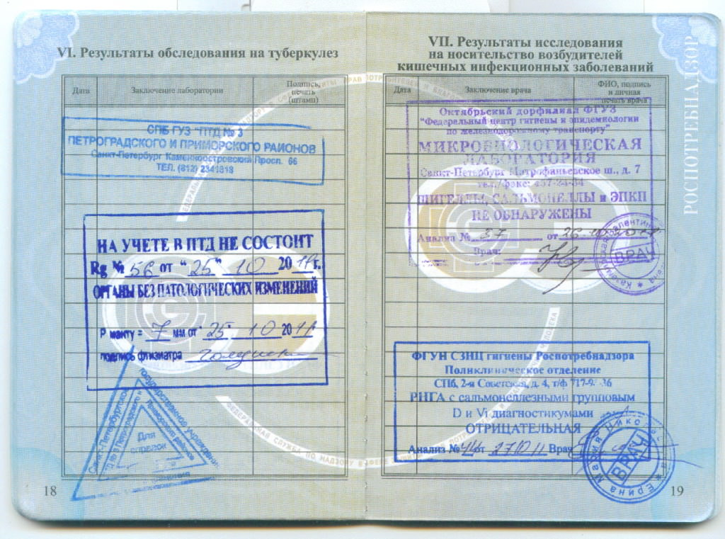 Медицинский книжки стоимость сколько стоит временная регистрация во владимирской области